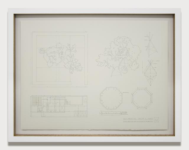 , 'Planimetría sala proyectos ,' 2014, Galeria El Museo