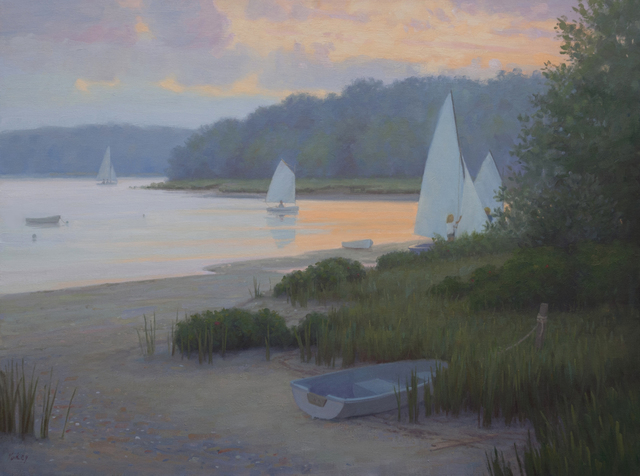 Sam Vokey, 'Sailing Home at Twilight', 2020, Painting, Oil on canvas, The Guild of Boston Artists