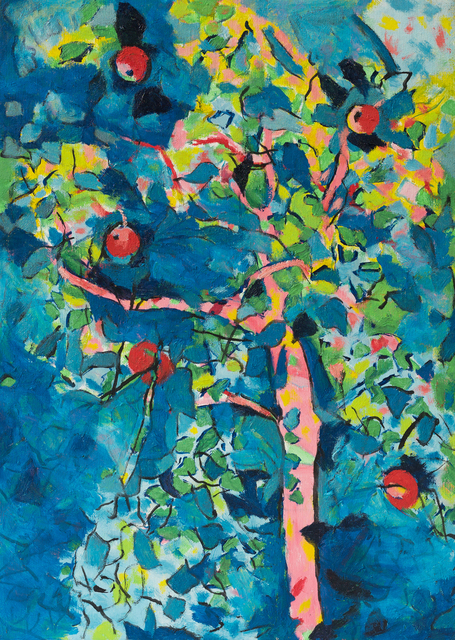 Philip Sutton RA, 'Apples Lucid and Smiling', 2013, Sladers Yard