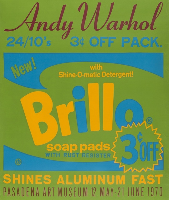Andy Warhol, 'Brillo Poster for the Pasadena Art Museum', 1970, Print, Screenprint in colours, on wove paper, Forum Auctions