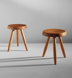 Pair of tripod stools