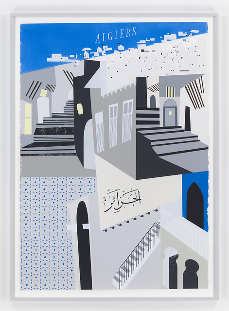 , 'Sculpture of a Travel Poster for Algiers,' 2015, David Kordansky Gallery