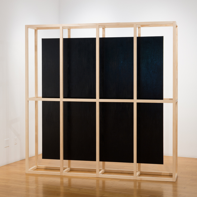 Mike Womack, 'Blackout 5 (Wall)', 2018, Sculpture, Oil on canvas with wood, David B. Smith Gallery