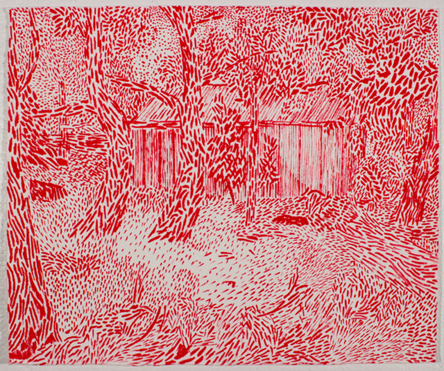 , 'Red Shed,' 2017, Linda Hodges Gallery