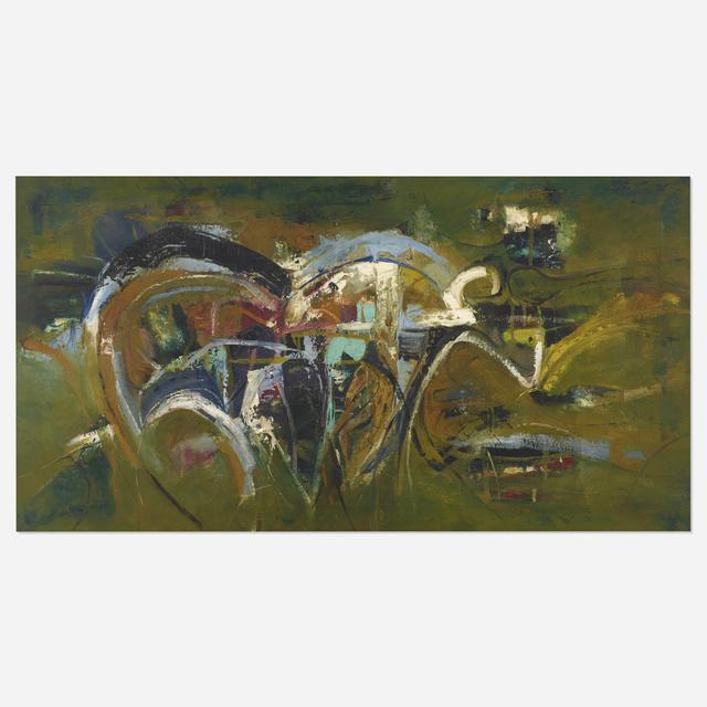 Matsumi Kanemitsu, 'Untitled', 1955, Painting, Oil on canvas, Rago/Wright