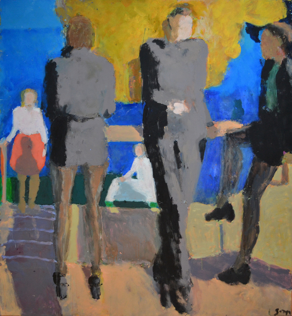 , 'Figures by the river,' 2014, Cadogan Contemporary