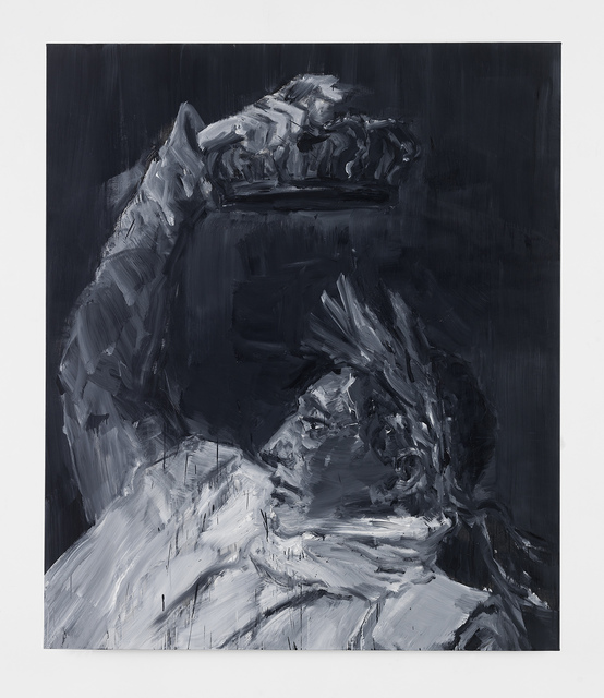 Yan Pei-Ming, 'Napoleon, Crowning Himself Emperor - Black', 2017, Zuecca Project Space