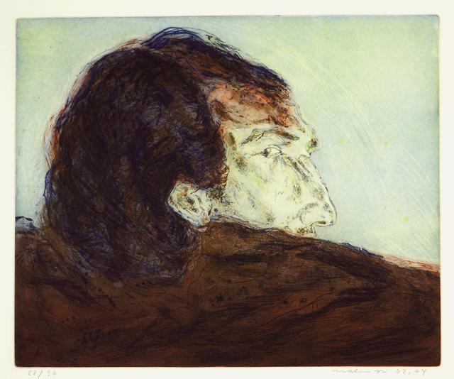 Marwan (Marwan Kassab-Bachi), 'Rucken Und Profil', 1972-1974, Print, Etching in colour, Meem Gallery