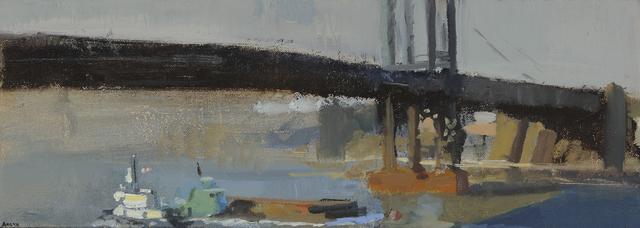 , 'Under the Bridge, Two Tugs,' 2013, Paul Thiebaud Gallery