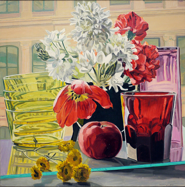 Janet Fish, 'Tulip, Apple and Glass', 1980, DC Moore Gallery