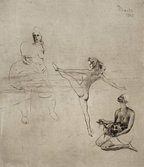 Pablo Picasso, 'Salomé', 1905, Print, Drypoint on Arches laid paper, Los Angeles County Museum of Art