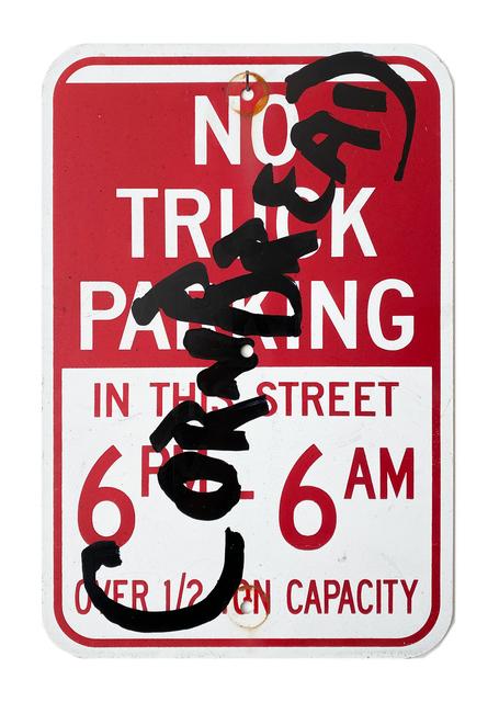 Cornbread, 'Cornbread No Truck Parking', 2020, Painting, Acrylic paint on a retired street sign, Paradigm Gallery + Studio