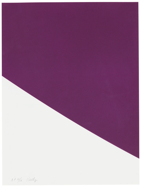 Ellsworth Kelly, 'Purple Curve, from Third Curve Series', 1999, Christie's