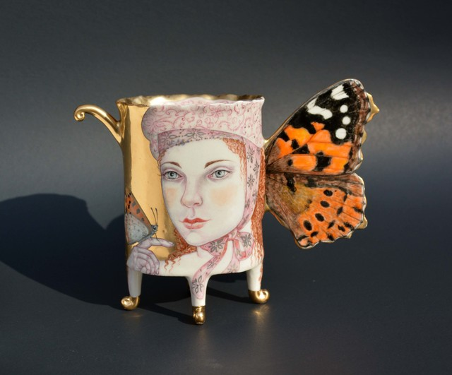 , 'Painted Lady Butterfly Cup,' 2017, Duane Reed Gallery