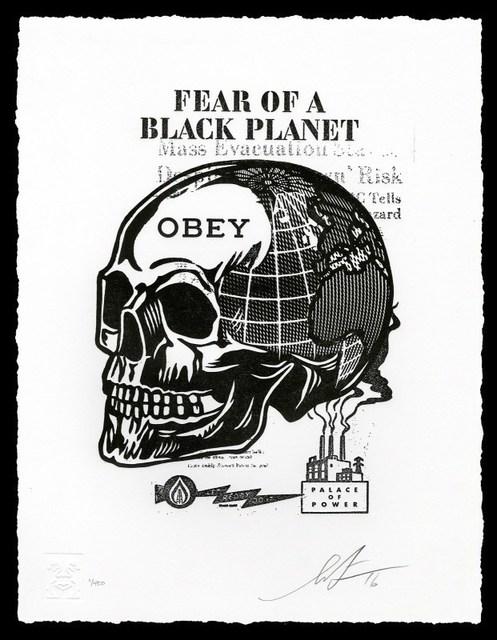 Shepard Fairey, 'Skull of a Black Planet', 2016, AYNAC Gallery
