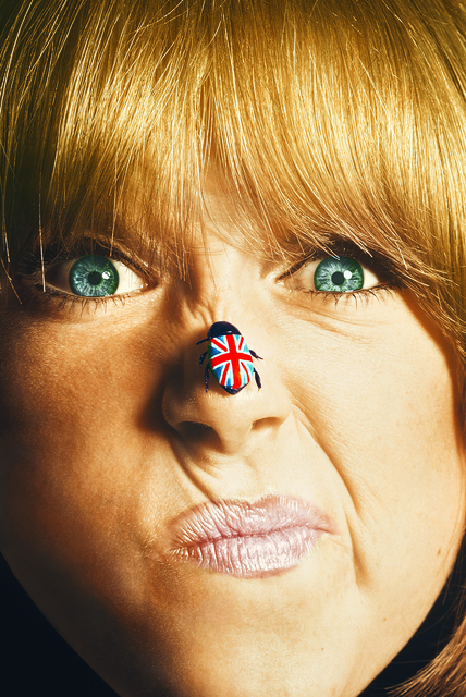 , 'Pattie Boyd with union jack bug,' 1966, Snap Galleries