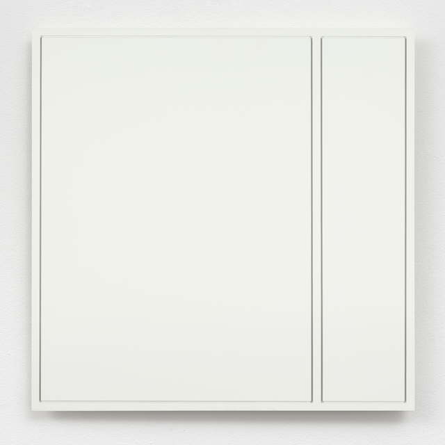 , 'Brede en smalle rechthoek gefreesd in vierkant / Wide and narrow rectangle cut into square,' 1973, The Mayor Gallery