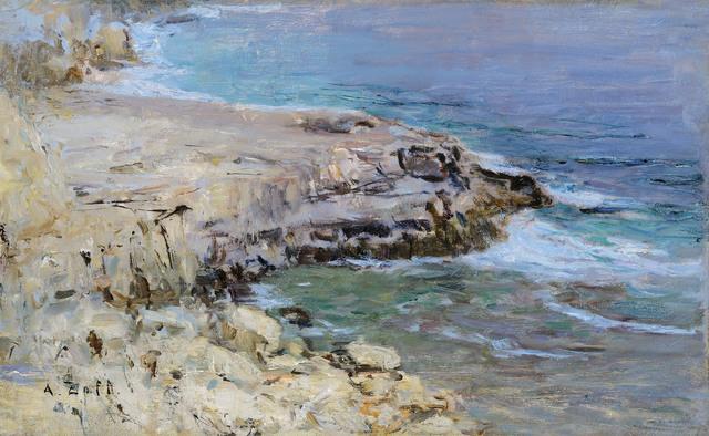 , 'Rocky coastline,' 1900, Galerie Kovacek