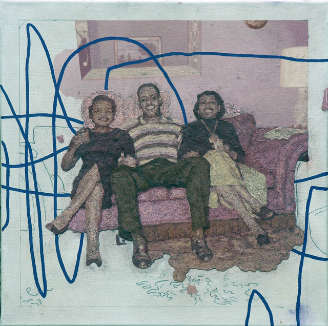 Colin Chillag, 'Being There Then (three seated figures)', 2018, The Secret Gallery