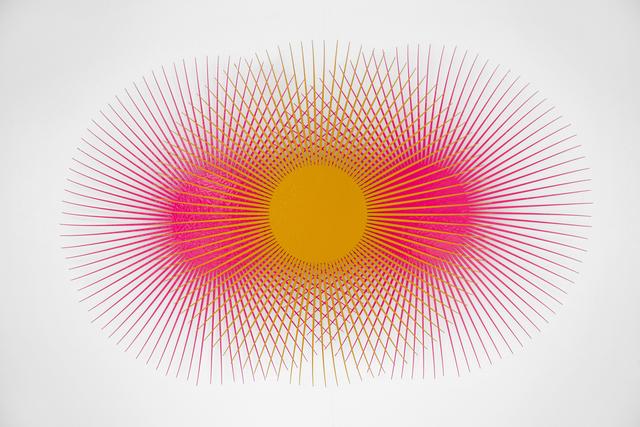 , 'Burst Star (Fluorescent Pink, Melon, Fluorescent Pink),' 2018, Eleven Twenty Projects