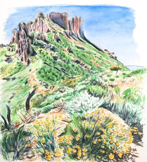 , 'Sketch for Along Lost Mine Trail,' 2017, Ro2 Art