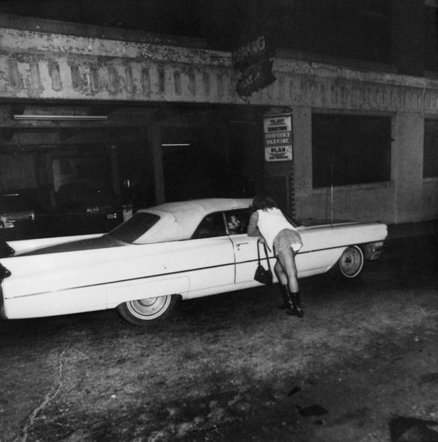 Jeffrey Silverthorne, 'Denise Hustling, outside of Homestead Cade, Providence, RI', 1972, PDNB Gallery