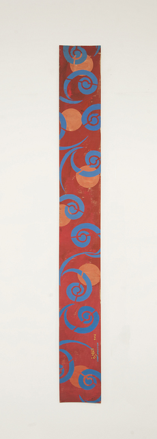 , 'B4 - Tashkent caftan spiral pattern in blue, 6 orange circles,' 2016, Sabrina Amrani