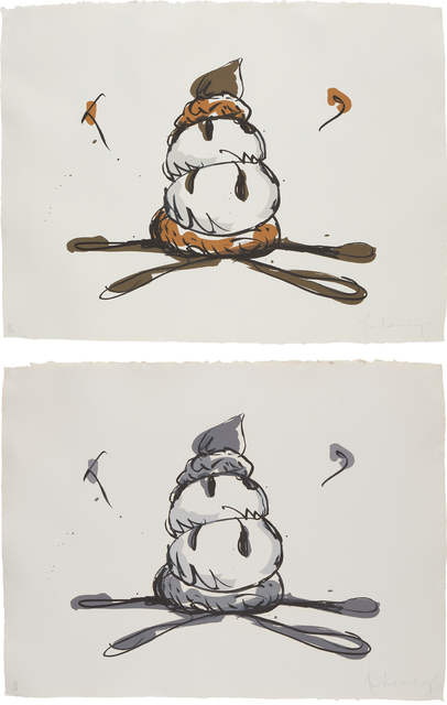 Claes Oldenburg, 'Profiterole; and Profiterole-Gray State', 1990, Phillips