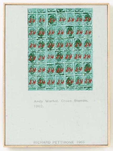 """Richard Pettibone, 'Andy Warhol, """"Green Stamps"""", 1962', 1965, Collectors Contemporary"""