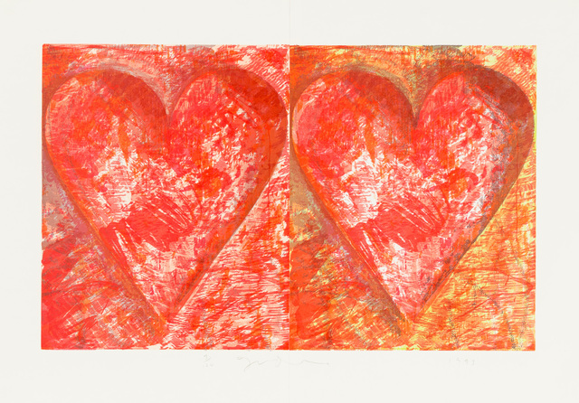 , 'Two Red Hearts,' 1993, Christopher-Clark Fine Art