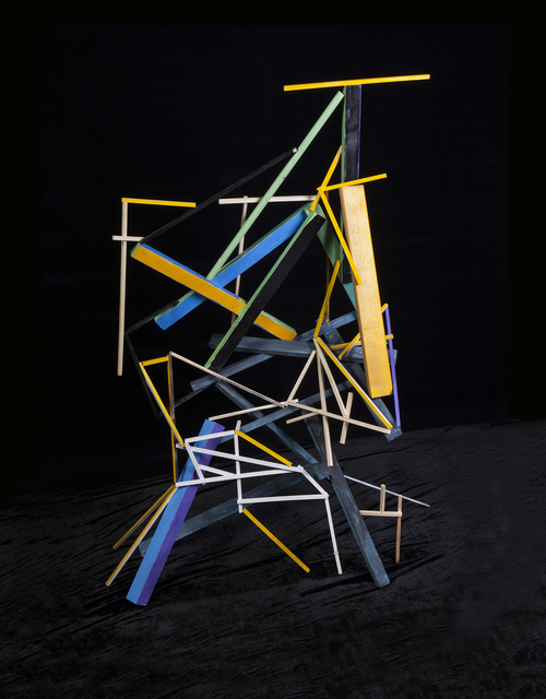 , 'Temporary Sculpture with painted wood 2,' 2014, The Ravestijn Gallery