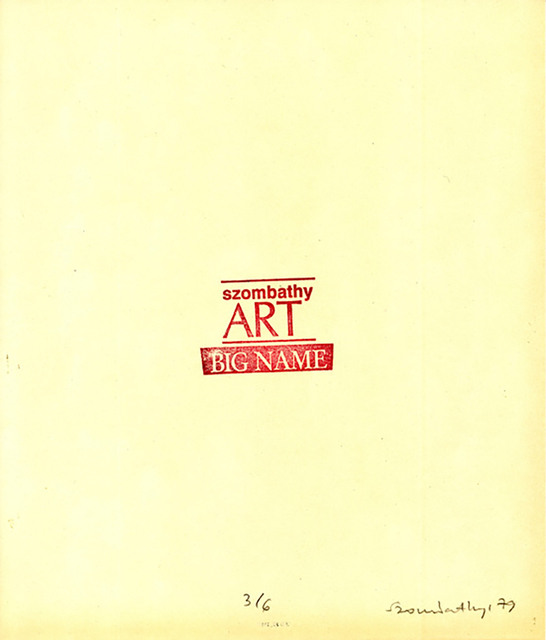, 'Rubberstamps Szombathy Art,' 1979, P74 Gallery