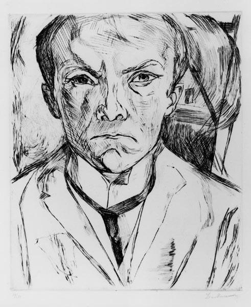 , 'Selbstbildins von vorn, im Hintergrund Hausgiebel,' 1918, Alice Adam Ltd.
