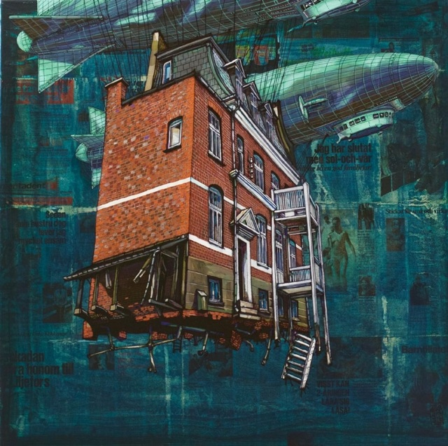 , 'Flying House from Charlottenlund,' 2018, GALLERI RAMFJORD