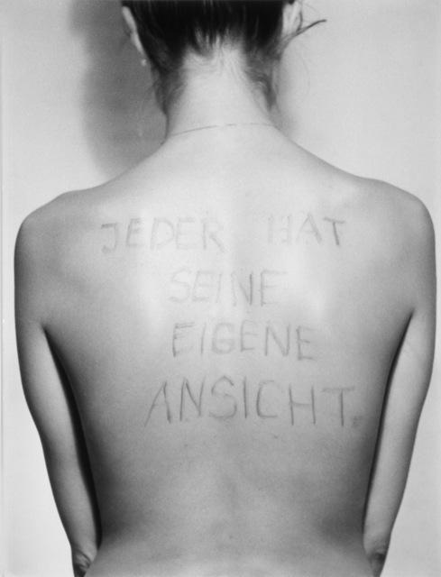 , 'Jeder hat seine eigene Ansicht / Everyone has his own Point of View,' 1975/2006, Galerie Hubert Winter