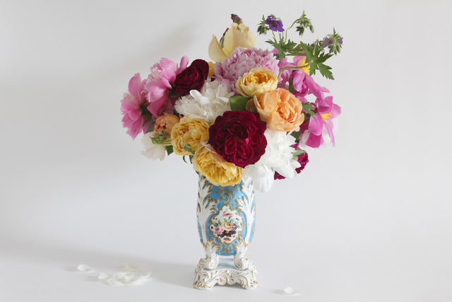 , 'French Vase with Roses and Peonies,' 2016, Gallery NAGA