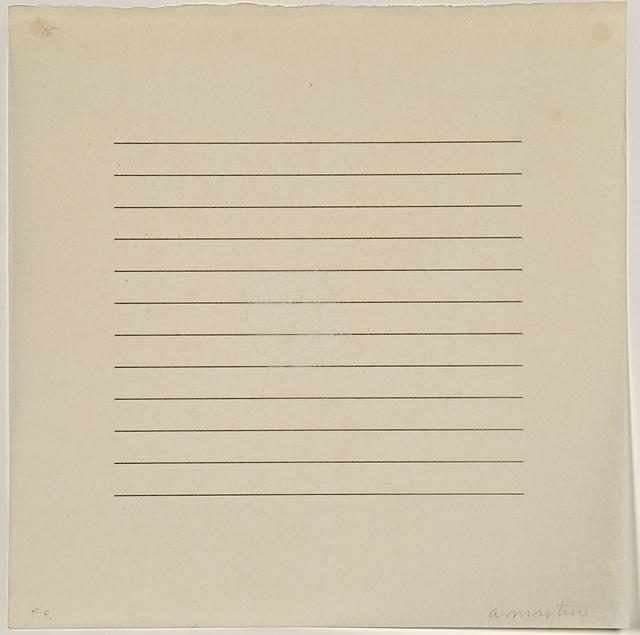 Agnes Martin, 'Untitled', 1973, Print, Screenprint in gray on rice paper, Rago/Wright
