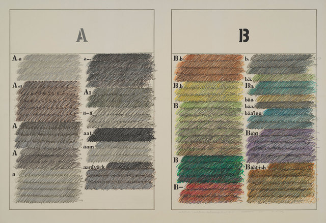 Shusaku Arakawa, 'Untitled (Webster Dictionary A & B)', 1965, Gagosian