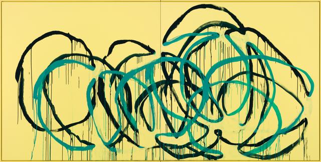 , 'Was bleibt? (türkis auf blau auf gelb) Miami,' 2016, Galerie Thomas Schulte