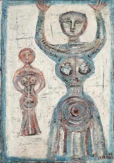 Massimo Campigli, 'Figura in blu - Figure in bleu', 1960, Il Ponte