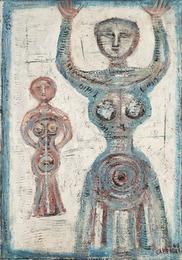 Figura in blu - Figure in bleu