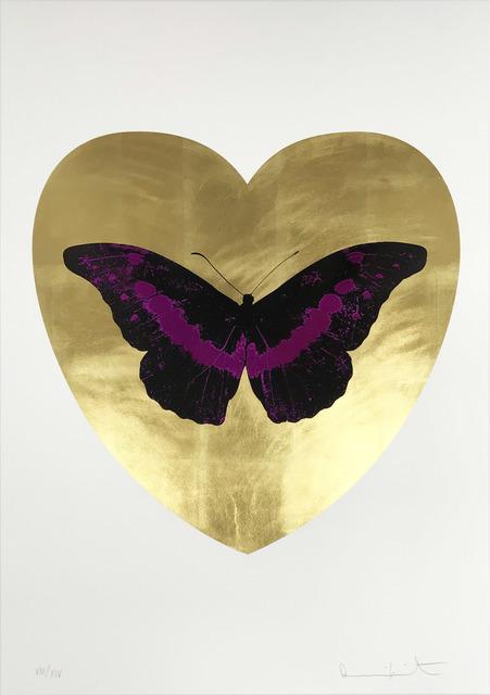 Damien Hirst, 'I Love You - Gold Leaf/Black/Fuchsia', 2015, Hamilton-Selway Fine Art