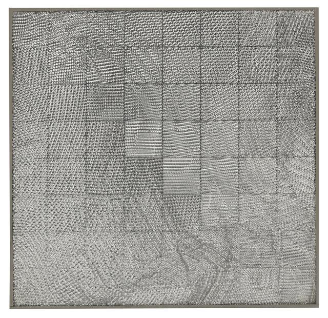 , 'Schachraster mit Netz (Relief),' 1972, Axel Vervoordt Gallery