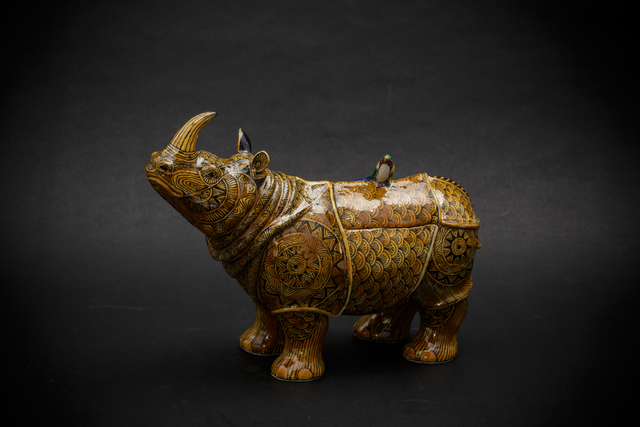 , '11. Yellow Rhino,' 2017, Sladmore Contemporary