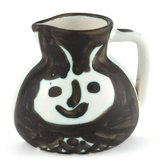 Pablo Picasso, 'TÊTES (A.R. 367)', 1956, Design/Decorative Art, Painted and partially glazed ceramic pitcher, Doyle