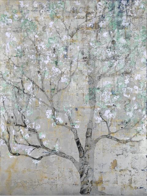Makoto Fujimura, 'Ki-Seki - Miracle ', 2014, Painting, Mineral Pigments, Sumi, Silver, and Gold, Kumohada on Canvas, Artrue Gallery