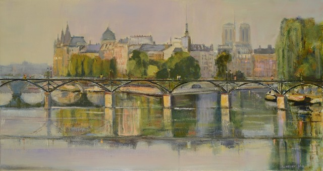 , 'Pont des Arts & Reflections,' 2014, Madelyn Jordon Fine Art
