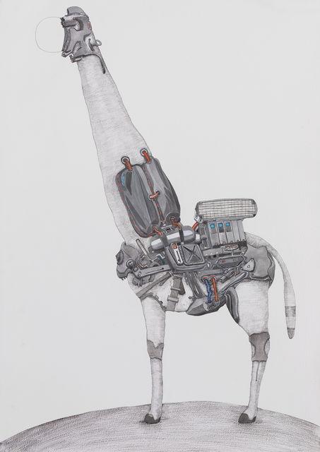 , 'Giraffe on the moon,' 2014, A+ Contemporary