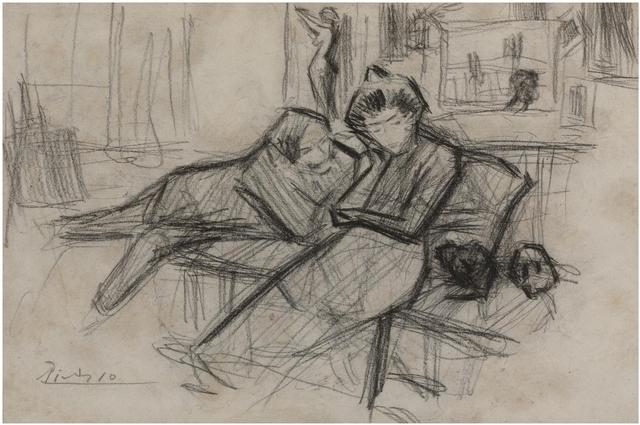 Pablo Picasso, 'Le couple', 1898, Galerie Thomas