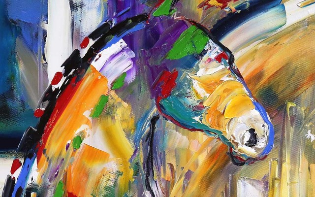 Laurie Pace, 'Original Horse Painting 'Sunbeam Love' Colorful Equine Art, Modern Western Art', 2017, Painting, Oil on Canvas, Fringe Gallery